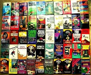 MYSTERIES / CRIME  ~ Lot of 50 Vintage Paperback Books 1980s/1990s