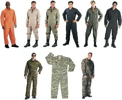 Military Style Flight Suit Coveralls Air Force Jump Suit Overalls Camo (Military Coveralls Overalls)