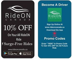 RideON Canada - Available on Apple iOS/Andriod iphone samsung
