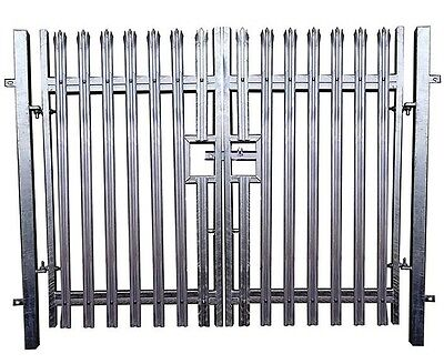 Palisade Fence Double Leaf Gate 1.8m High x 3m Security Gate - £430 + VAT