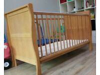 Cot bed with mattress (never used)