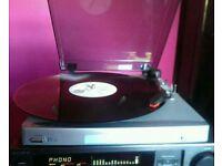 Bush MTT1 mini Turntable / record player - plays LP's / 45rpm singles etc