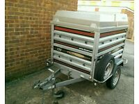 Daxara 158 Trailer + extended sides and ABS lockable lid