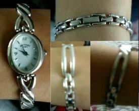 Ladies Hallmarked Silver Rotery Elegant Watch