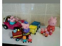 peppa pig toys including musical beach buggy