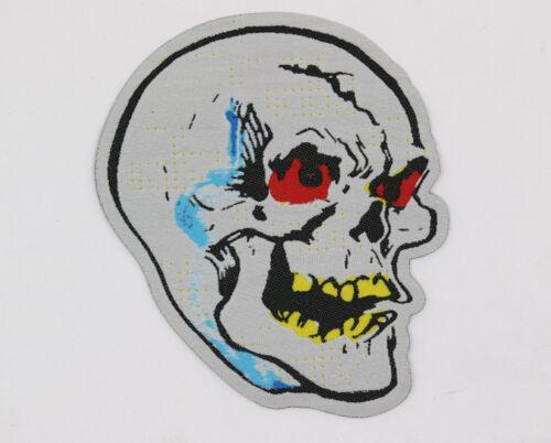 PATCH - Skull - HORROR / Halloween - Woven, die-cut, iron on - mask, spooky