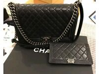 Authentic Chanel boy bag and matching purse