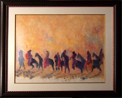 "Earl Biss ""The Dark Horses""Hand Signed Mono Print w/ Custom frame  Make an Offer, used for sale  Aurora"