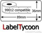 DYMO * 99012 label labels voor 400 450 330 320 310 4XL