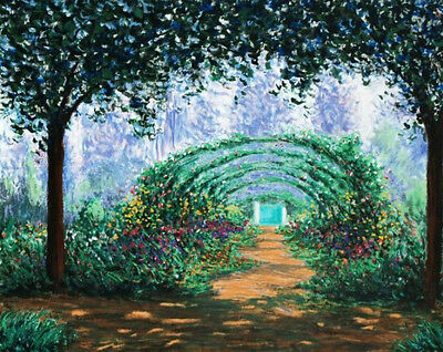 "James Scoppettone ""Monet's Garden"" Limited Edition Serigraph COA Retail $1,000"