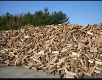 Seasoned firewood, cut, split and delivered