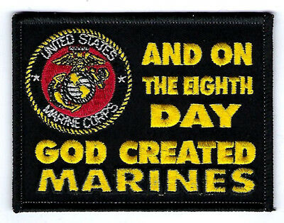 ON THE 8TH DAY GOD CREATED US MARINES HAT PATCH USMC PIN UP EIGHT EGA GIFT (On The 8th Day God Created Marines)