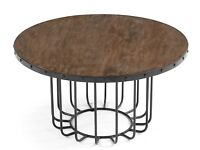 Broxbourne Round Coffee Table in Sustainable mango wood