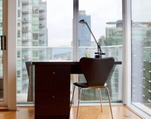 Modem Custom Wooden Desk + Ultra Suede Desk Chair