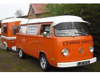 VW T2 1973 Late Bay Westfalia Camper and Romini Caravan