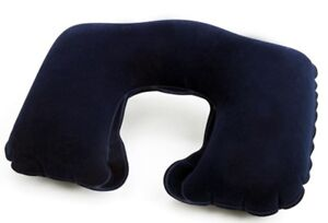 Hyfive - Travel Neck Pillow - Inflatable Head Rest Cushion - Blue