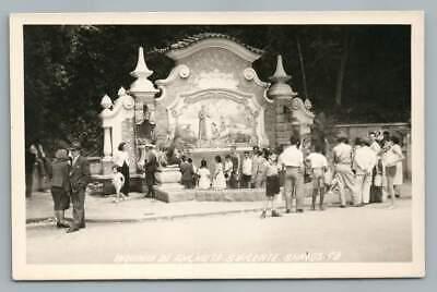 Biquinha de Anchieta SAO VICENTE Santos RPPC Brazil Brasil Antique Photo~1940s