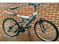 """Shockwave Sus 500 Dual Suspension 26"""" Wheels Bike"""