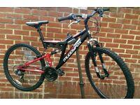"""Muddyfox 26"""" Wheels Dual Suspension Bike (Like New)"""