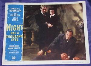 ORIGINAL NIGHT HAS A THOUSAND EYES 1948 LC EDWARD G. ROBINSON