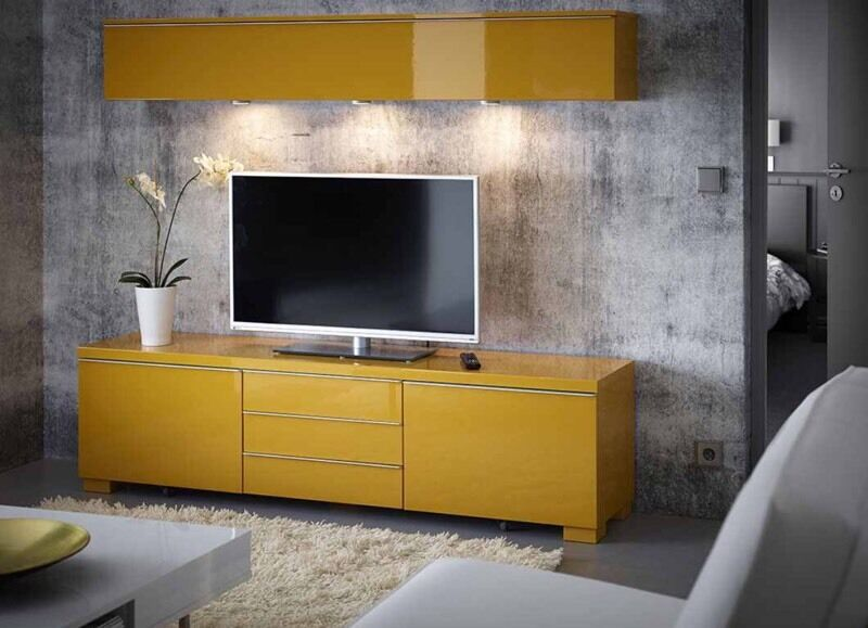 ikea besta burs tv unit yellow in south east london london gumtree. Black Bedroom Furniture Sets. Home Design Ideas