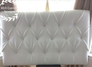 Handcrafted Infinity Tufted Headboard. 36x60 Queen/Double