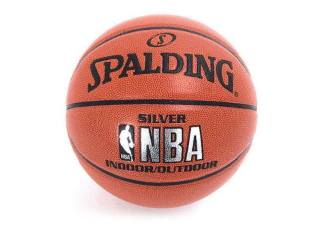 Spalding NBA SILVER INDOOR / OUTDOOR Basketball Ball Sports Ball Size 7 - New