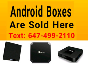 Android Boxes  - Plug and Play - Movies Shows Sports Cartoons