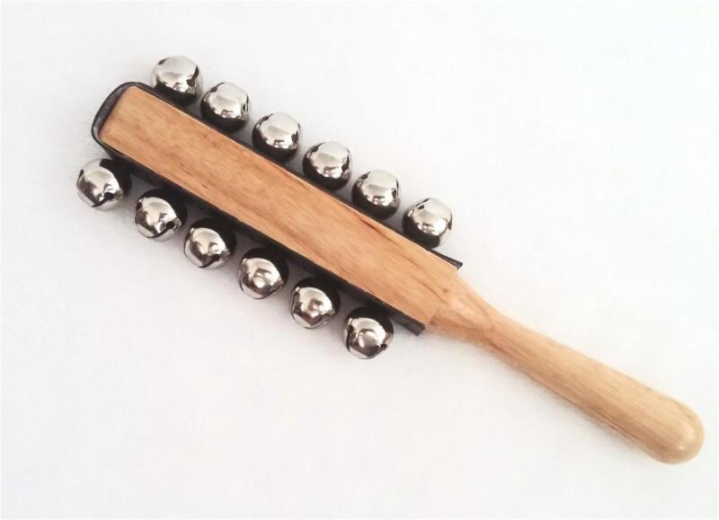 SLEIGH JINGLE BELLS  -New! - Santa Reindeer Rudolph Christmas Bells Stick NICE!