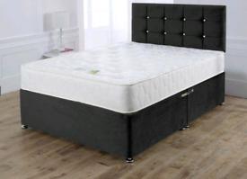 BEAUTIFUL DIVAN bed set with luxury mattress and FREE MATCHING HEADBOA