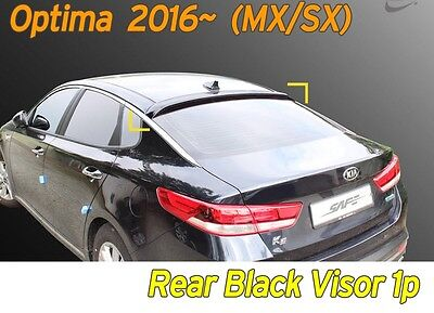 Black Rear Smoked Roof Spoiler Wing Visor Vent 1P K-998 for KIA Optima 2016~2019