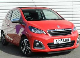 Peugeot 108 Allure TOP! 1.2 VTi PureTech 3dr 2015 Petrol Manual Red