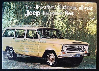 Kaiser Jeep Corp Wagoneer Gladiator Universal Jeepster Small Dealer Brochure