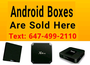 Android Boxes  *Plug and Play* Shows Sports Movies iptv in
