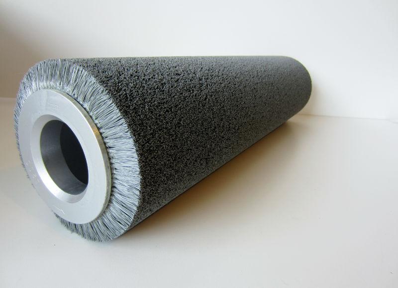 """24"""" Long Abrasive Brush Roller 1200 Grit 6"""" Diameter Cylindrical Roll NEW"""