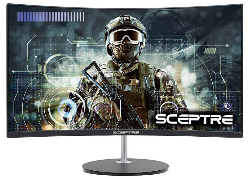 Sceptre Gaming Monitor 75hz Curved With Speakers Wall Mount