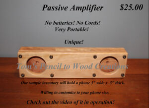 No cords or batteries required for this Passive Amplifier!