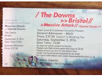 2 Massive Attack tickets for sale x £60 each