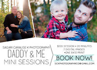 Fathers Day, Daddy & Me Mini Sessions - SCK Photography