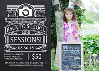 Back To School Mini-Sessions