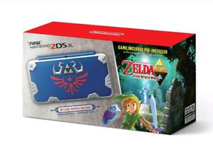New Nintendo 2DS 3DS XL Zelda Hylian Shield Edition with games