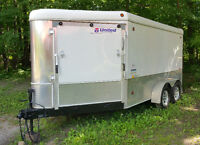 2008 7' x 16' V-Nose enclosed trailer by United Trailers