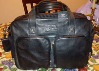 New Leather Cutter & Buck Full Feature Lap top or travel bag