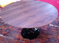 saarinen table walnut, table en bois, wood tulip table 120 cm