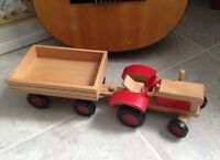 Wooden Tractor Toy/Display Set