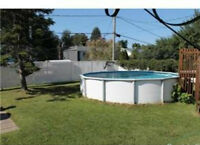 very large lot , pool, 3+1 bdr 2bath, jardin, lees than renting