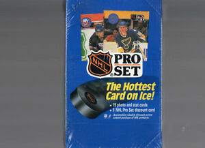 PRO SET 1990-91 HOCKEY CARTES BOITE 36 PQTS