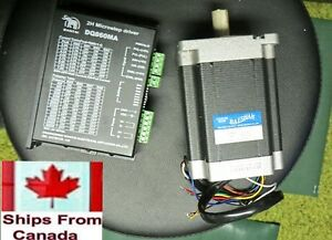 Stepper Motor and Driver - Nema 34 - 880 oz with 7 amp Driver