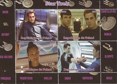 2015 Star Trek - 4 Stamp Sheet - 3B-375