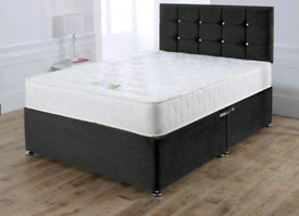 AMAZING DIVAN bed set with luxury mattress and FREE MATCHING HEADBOARD